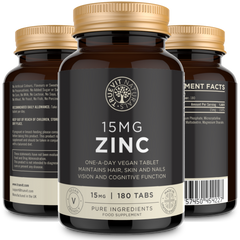 Zinc Supplement - 15MG, 180 Tablets