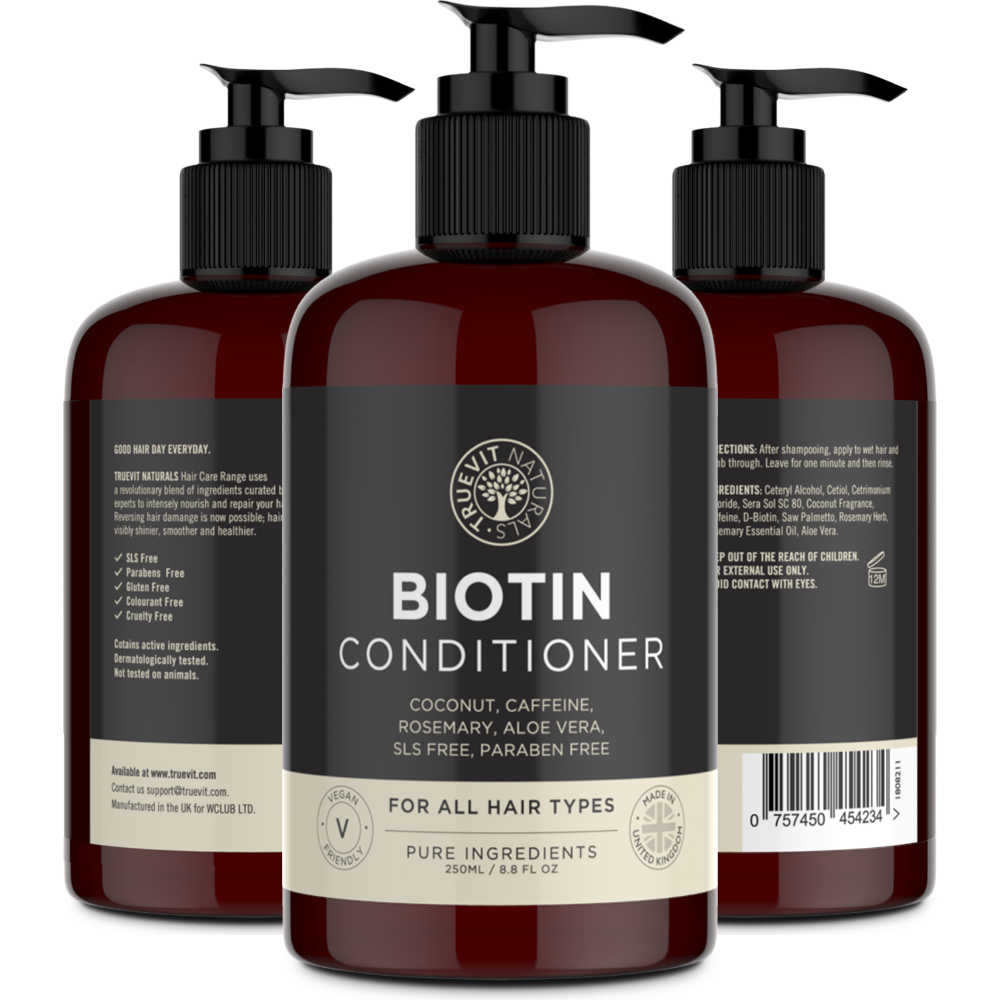 Biotin Conditioner with Coconut Oil, Rosemary and Aloe Vera - 250ml