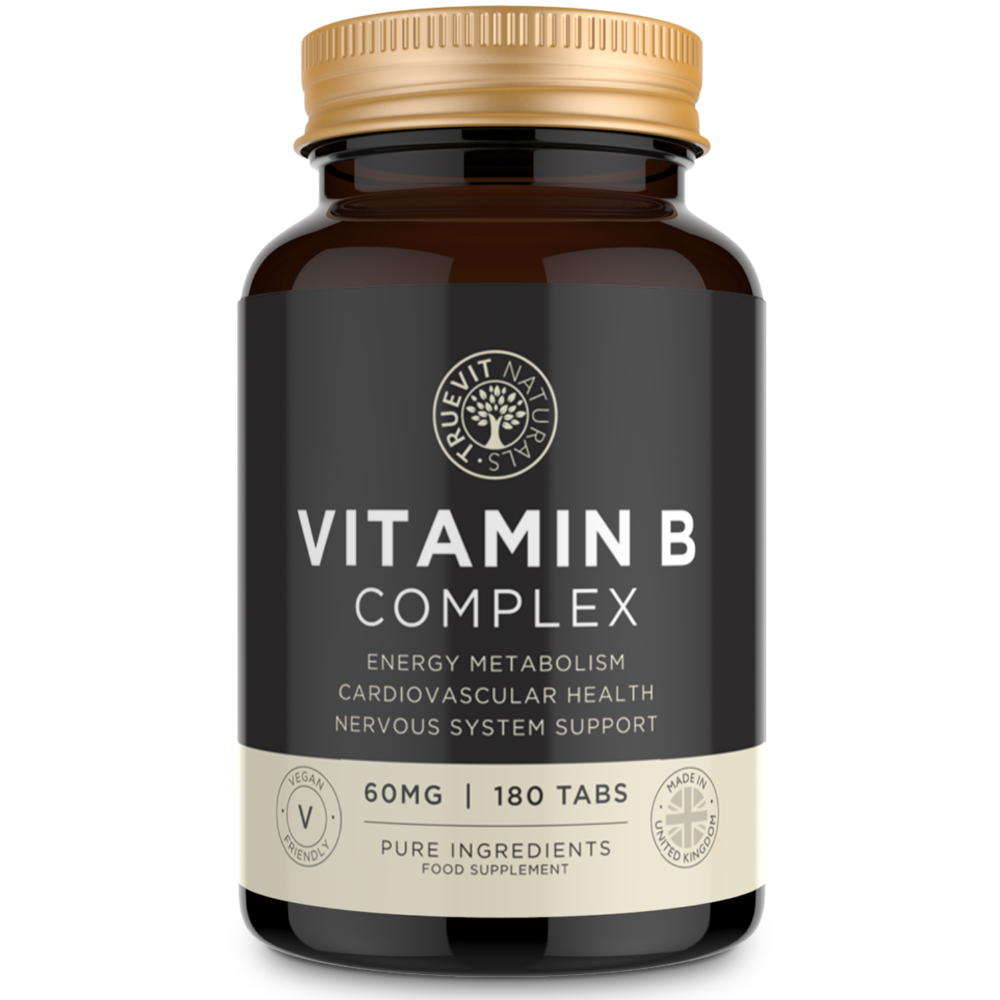 Vitamin B Complex (Folic Acid (B1, B2, B3, B6 and B12) - 60MG, 180 Tablets
