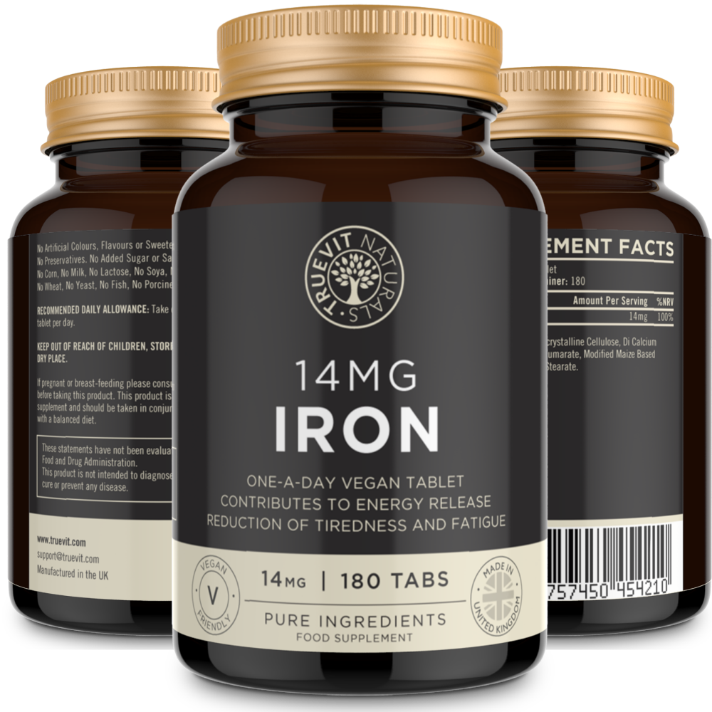 Iron Tablets 14mg Supplement One - truevit