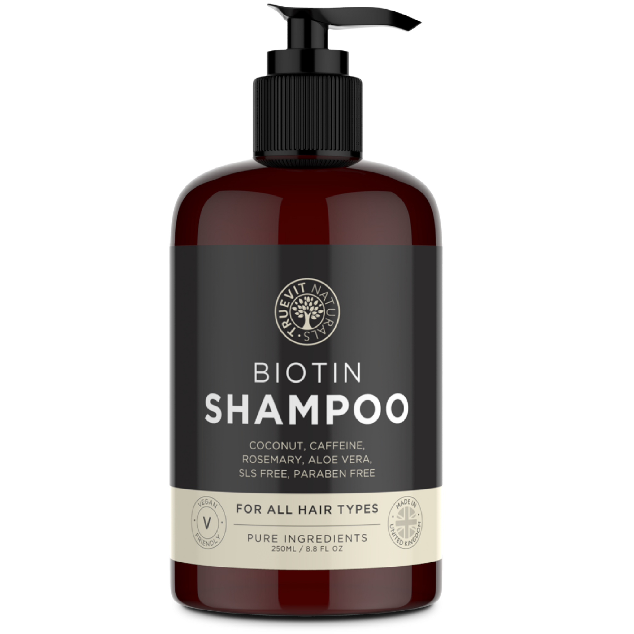 Biotin Shampoo with Coconut Oil, Rosemary and Aloe Vera - 250ml