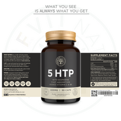 High Strength 5HTP - 420MG, 30 Capsules