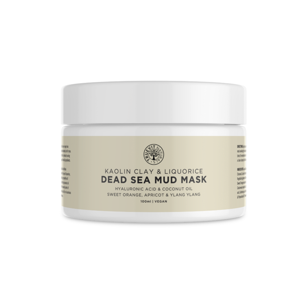 Vegan Dead Sea Mud Mask with Kaolin Clay, Liquorice Root & Hyaluronic Acid - truevit