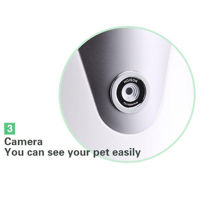 2020 Hot-sale Hoison Automatic Pet Dog and Cat Feeder, HD Camera for Voice and Video Recording,Wi-Fi Enabled App for iPhone and Android (Free Shipping)