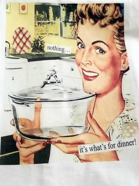 Nothing It's What's for Dinner Flour Sack Tea Towel