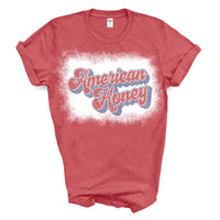 American Honey Bleached Retro Graphic Tee / T-Shirt