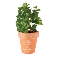 John 15:5 - I am the Vine Flower Pot