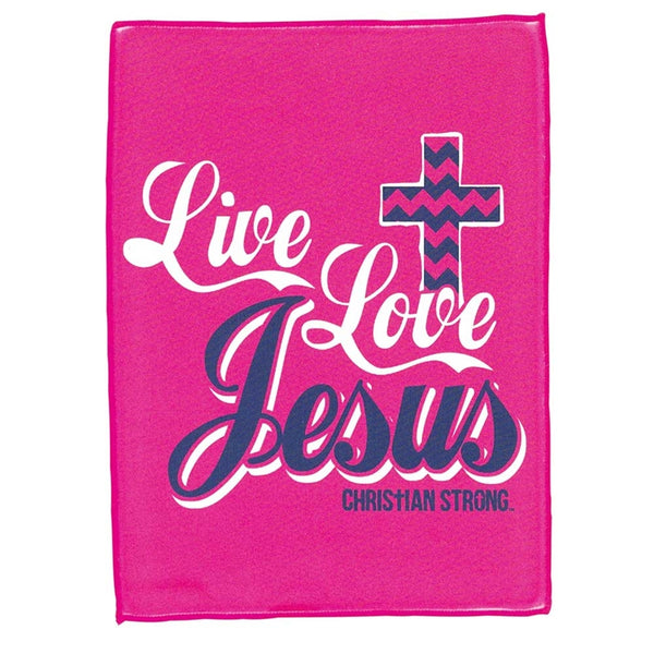 Live Love Jesus Microfiber Cloth