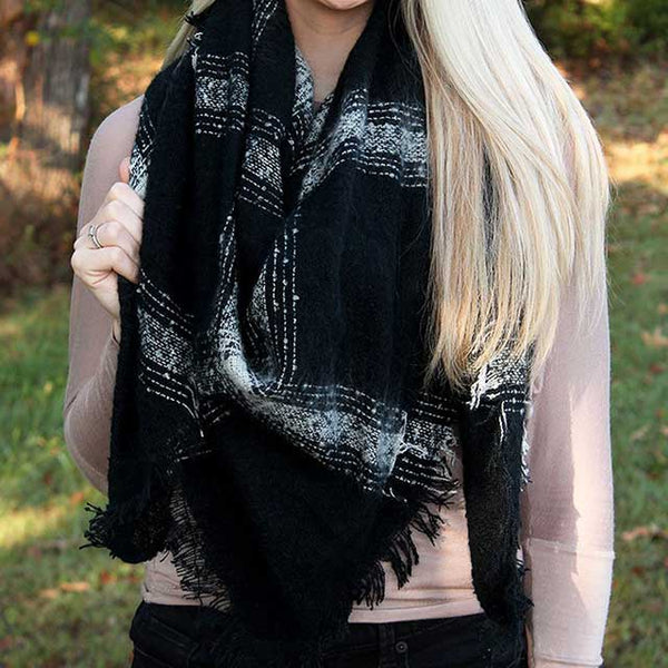 Black Blanket Scarf Wrap