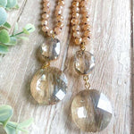 Champagne Wishes Bead and Crystal Necklace - Grace Mercantile
