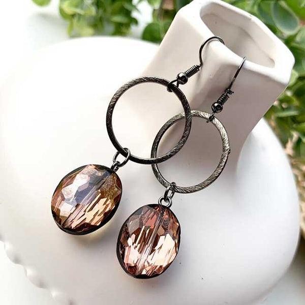 Gunmetal and bronze hoop earrings - Grace Mercantile