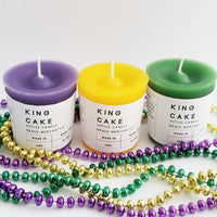 King Cake Mardi Gras Candles