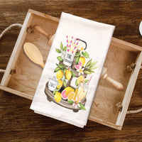 Pink Lemonade Citrus Tea Towel