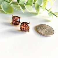 Leopard Stud Earrings - Grace Mercantile