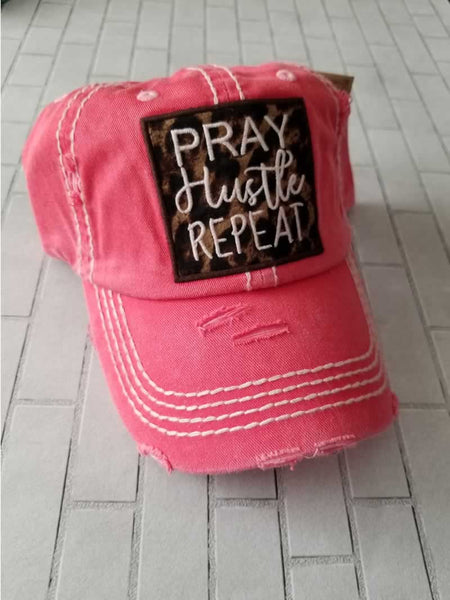 Pray Hustle Repeat Hat - Grace Mercantile