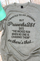 Proverbs 28:1 Funny T-Shirt