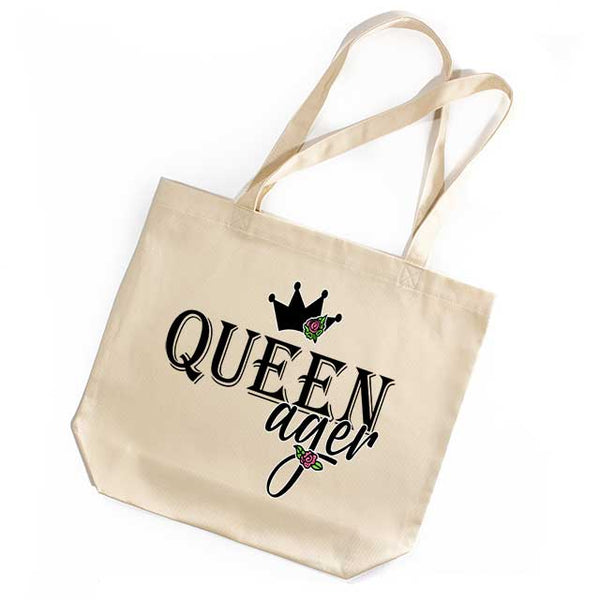 Queenager Tote Bag Funny Gift