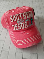 Southern Raised and Jesus Saved Baseball Hat / Cap