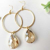 Gold Hoop and Jewel Earrings - Grace Mercantile