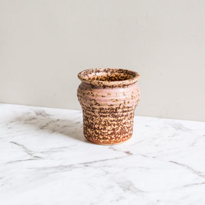 pink earthen plant pot for succulents and indoor plants