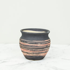Enso Handmade succulent Pot red and black