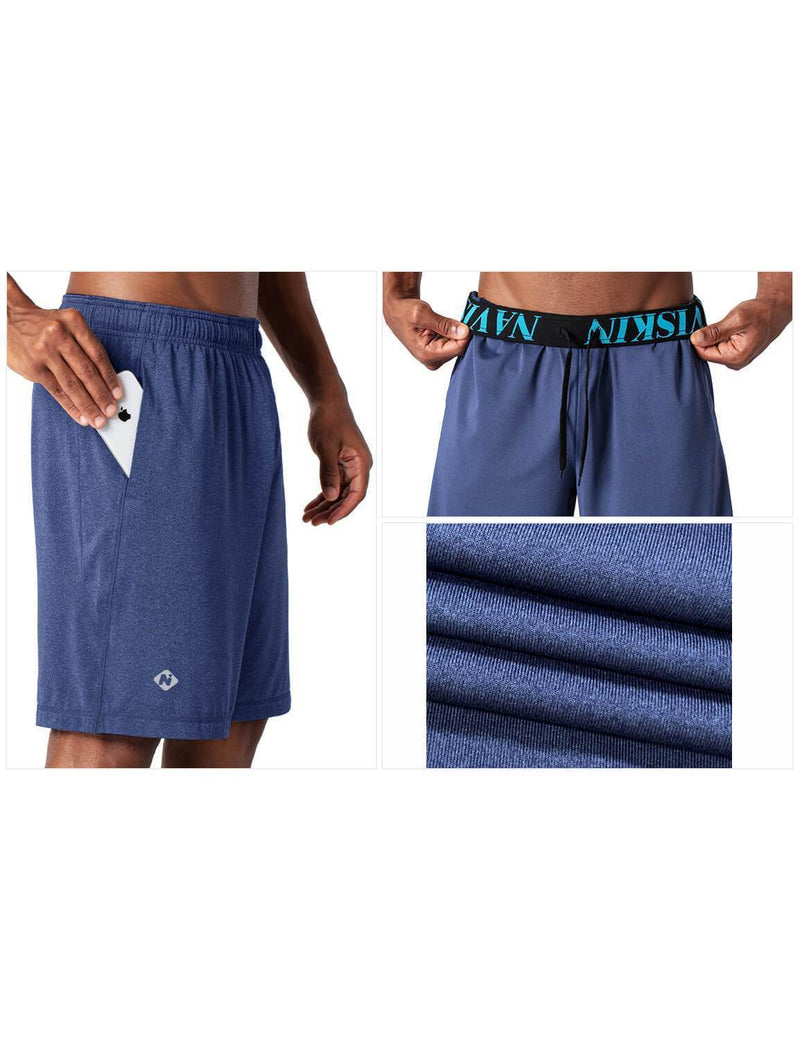 "10"" UPF 30+ Workout Short-Naviskin"