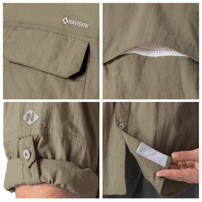 Naviskin UPF 50+ Long Sleeve Fishing Shirt