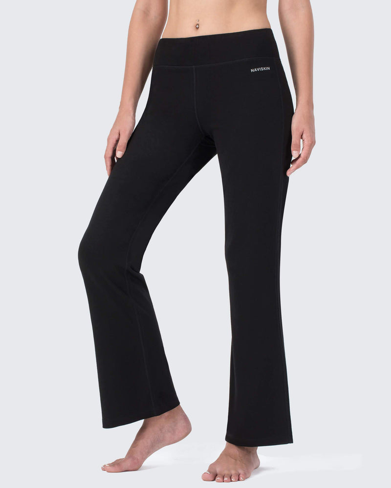 Basic Bootcut Yoga Pants-Naviskin