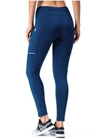 Fleece Yoga Legging With Zip Pocket-Naviskin