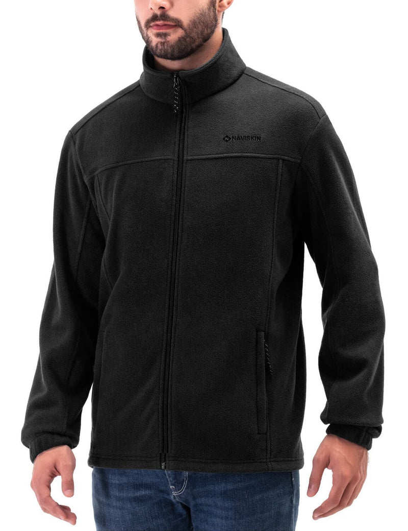 Full Zip Fleece Jacket-Naviskin