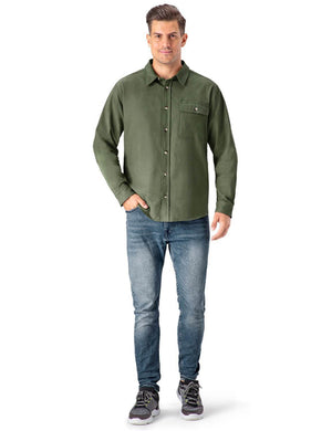 Thermal Flannel Plaid Shirt-Naviskin