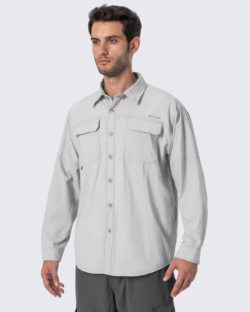 UPF 50+ Long Sleeve Fishing Shirt-Naviskin