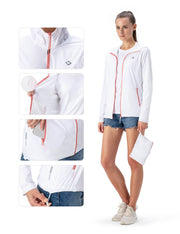 UPF 50+ Zip Up Packable Jacket-Naviskin