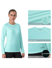 UPF 50+Long Sleeve Shirt-Naviskin
