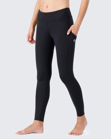 Yoga Legging Pants With Side Pockets-Naviskin