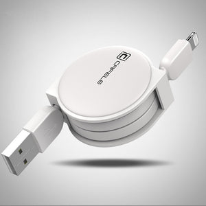 1m Retractable Charger Data sync Cable For iPhone