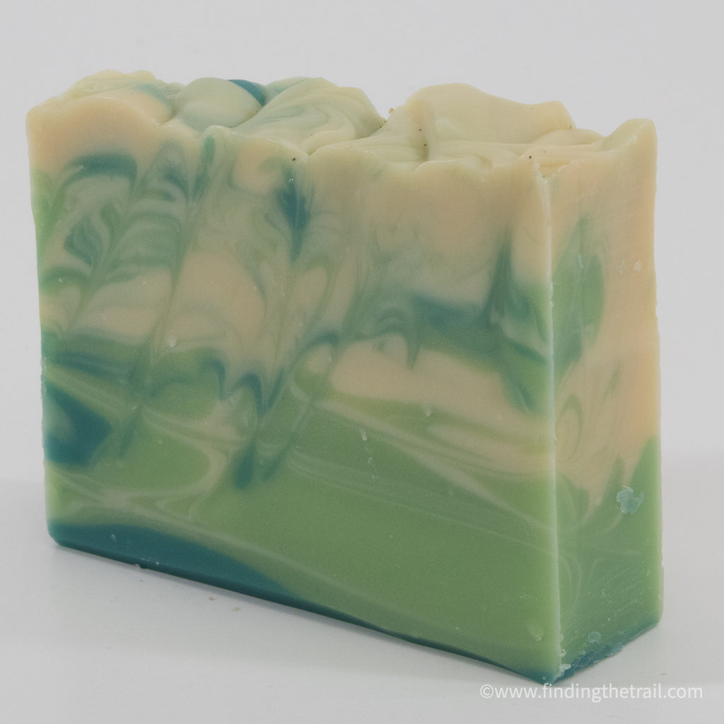 Michigan Summer Bar Soap with Lemongrass Litsea and Grapefruit Essential Oil