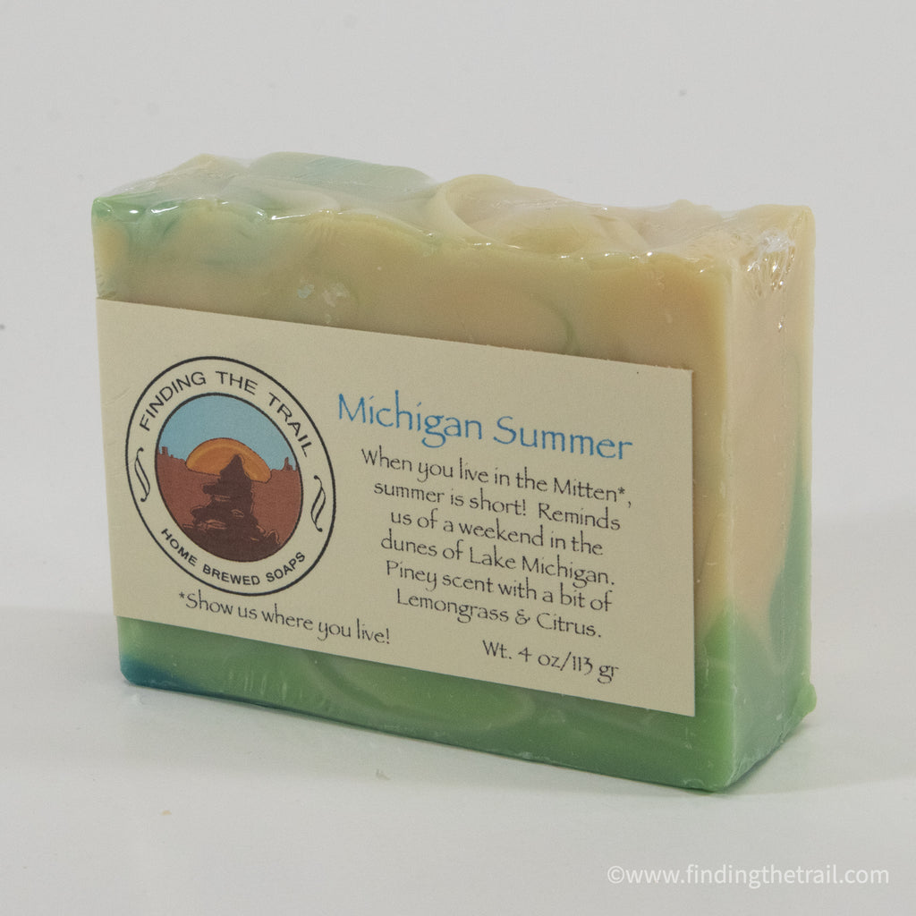 Michigan Summer Bar Soap with Lemongrass, Litsea & Grapefruit Essential Oils