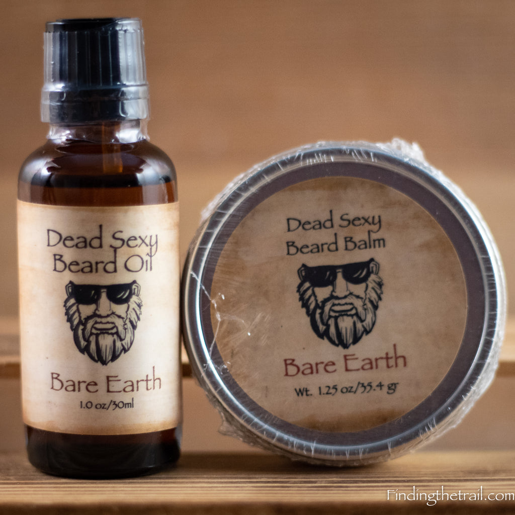 Bare Earth Dead Sexy Beard Oil  and Balm Set with Essential Oils