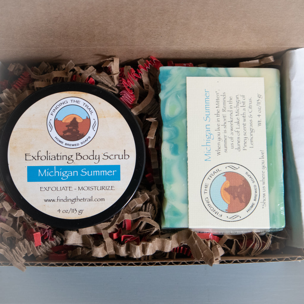 Michigan Summer Soap and Scrub Set