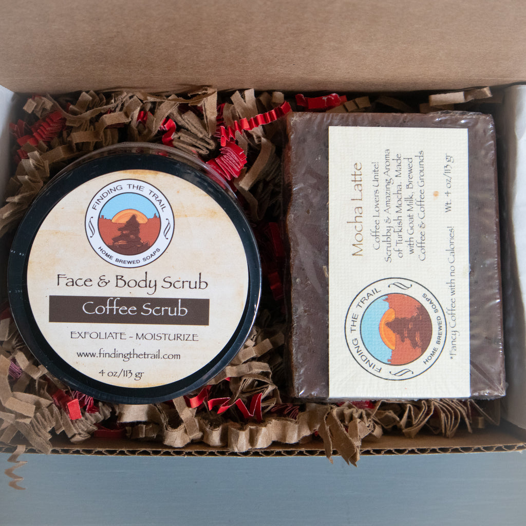 Coffee Lovers Soap and Scrub Set