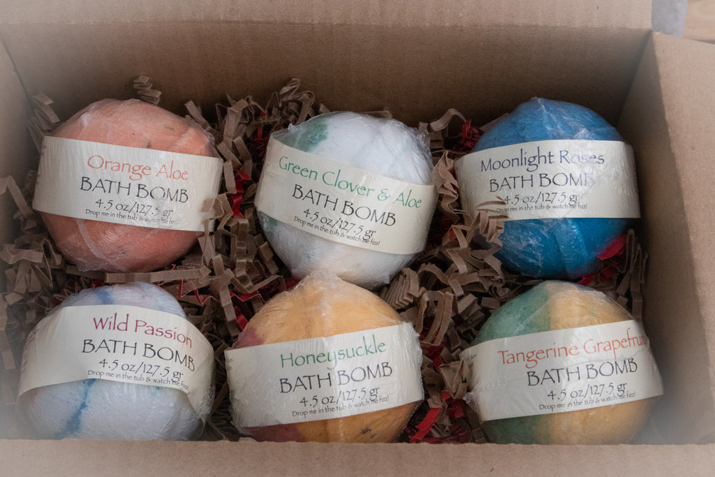 Six Pack of  Assorted Bath Bombs with Shea Butter