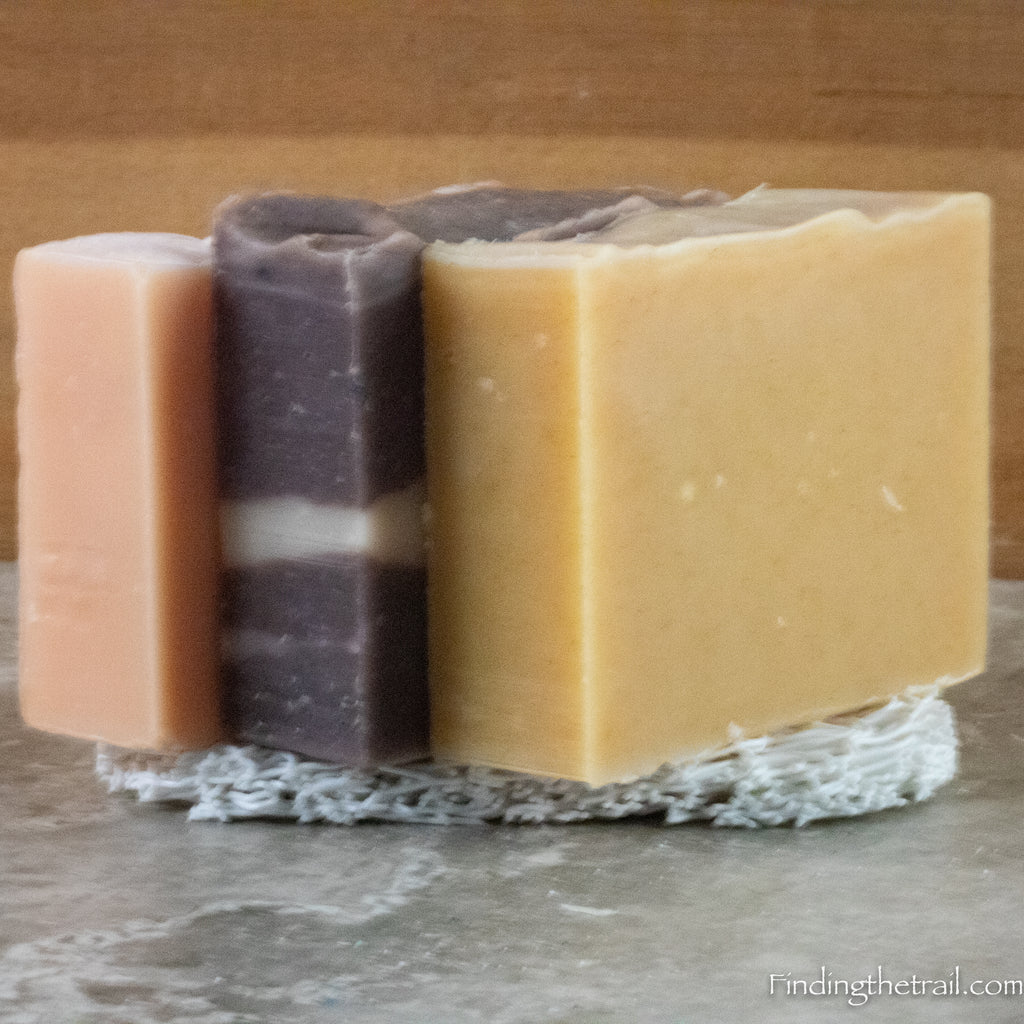 Patchouli Lovers Soap Three Pack - Patchouli Cedarwood, Lavender Patchouli and New Age Hippy Bar Soaps with Sealark Soap Lift