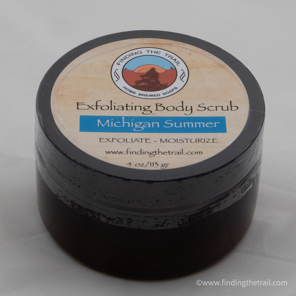 Michigan Summer Exfoliating Body Scrub with Lemongrass, Litsea & Grapefruit Essential Oils