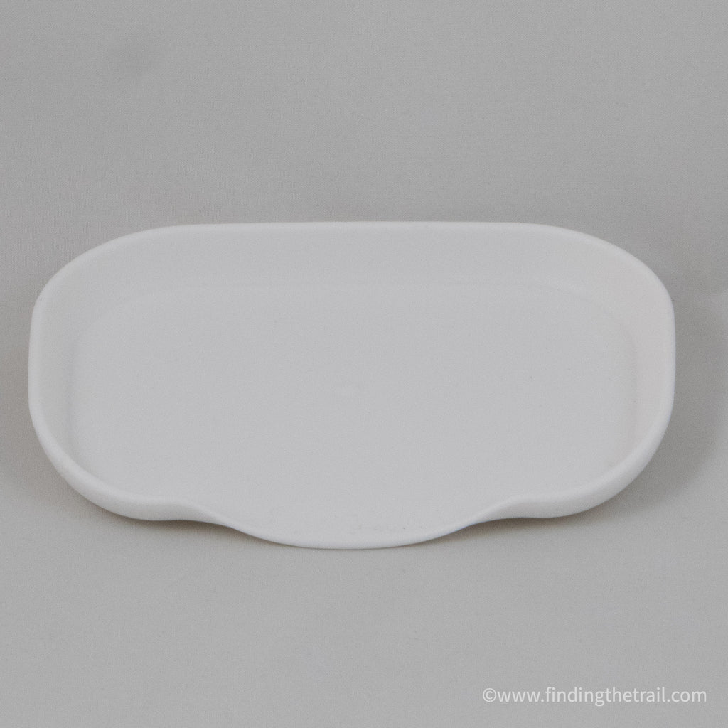 Waterfall Style BPA Free Soap Dish White