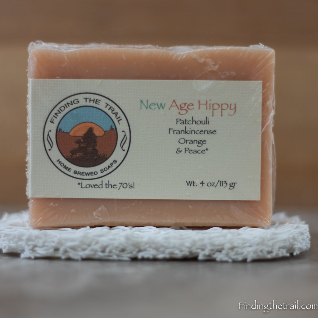 New Age Hippie Bar Soap with Orange, Frankincense & Patchouli Essential Oils