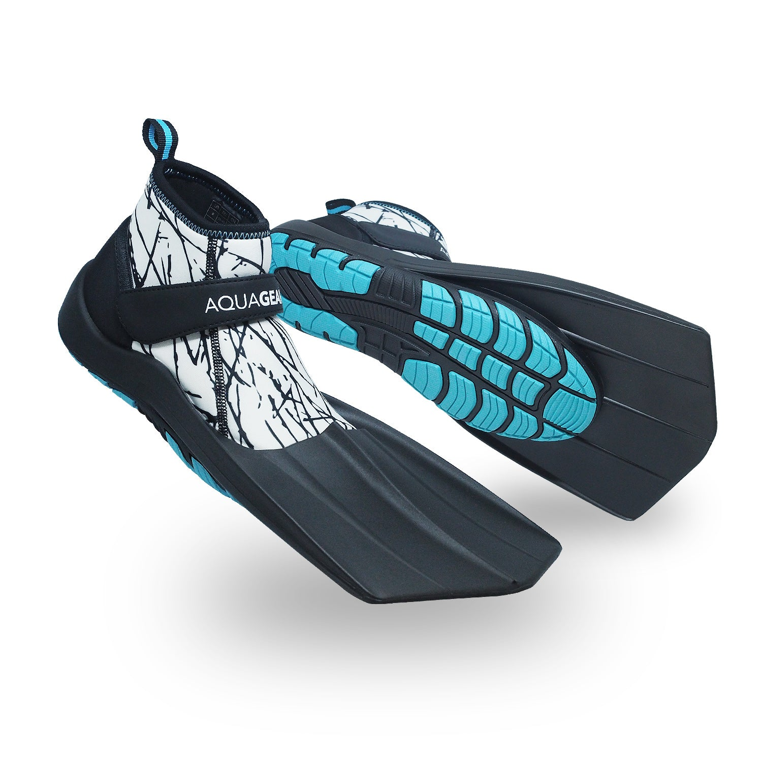 AquaFins - Walkable Snorkel Fins (Pearl White)