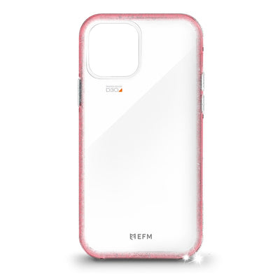 "EFM Aspen Case Armour with D3O Crystalex For iPhone 12 / 12 Pro (6.1"") Glitter Coral"