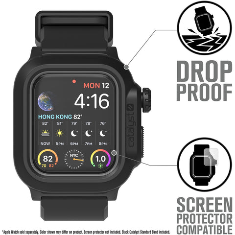 Catalyst Waterproof Case for Apple Watch Series SE, 6, 5 & 4 for 40mm - Stealth Black