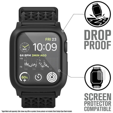 Catalyst Impact Protection Case V2 for Apple Watch Series 4 & 5 for 44mm - Stealth Black